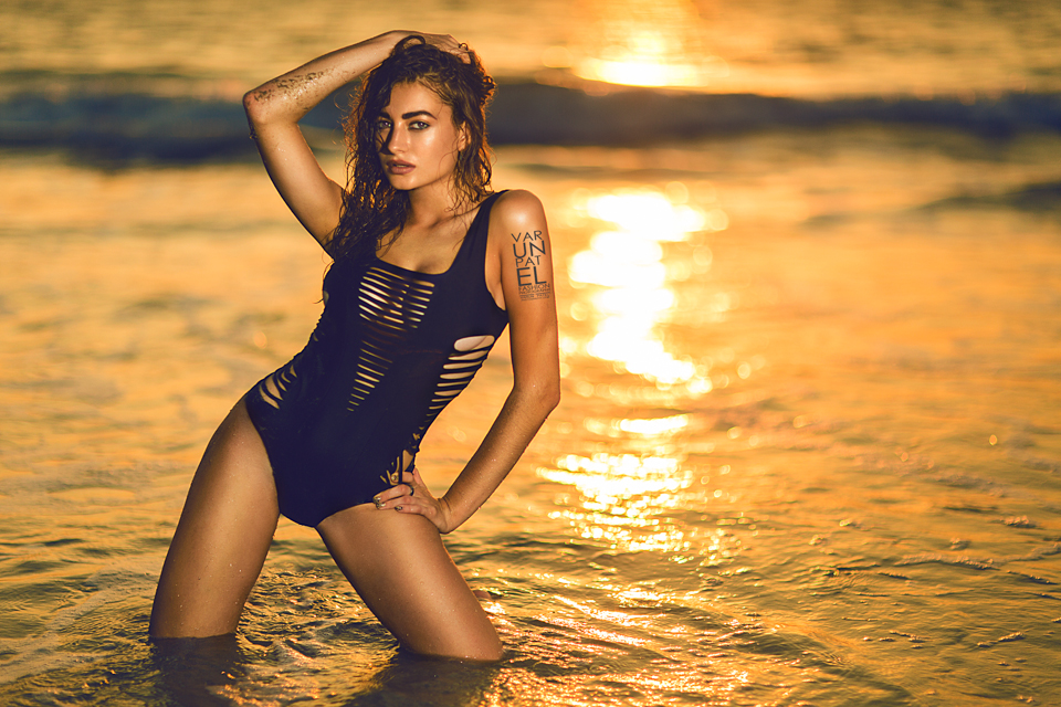 Golden hour bikini shots